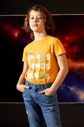 Defacto Erkek Çocuk Sarı Karanlıkta Parlayan Kısa Kol Tişört 3