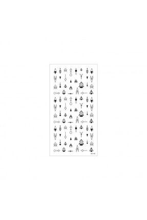 Artikel Etnik Desenler-2 Tırnak Dövmesi Tırnak Tattoo Nail Art Tırnak Sticker 1