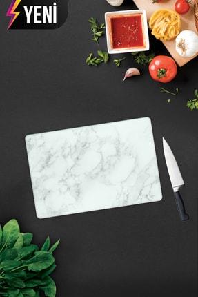 Decorita Klasik Mermer Desenli   Cam Kesme Tahtası - Cam Kesme Tablası   20cm x 30cm 1