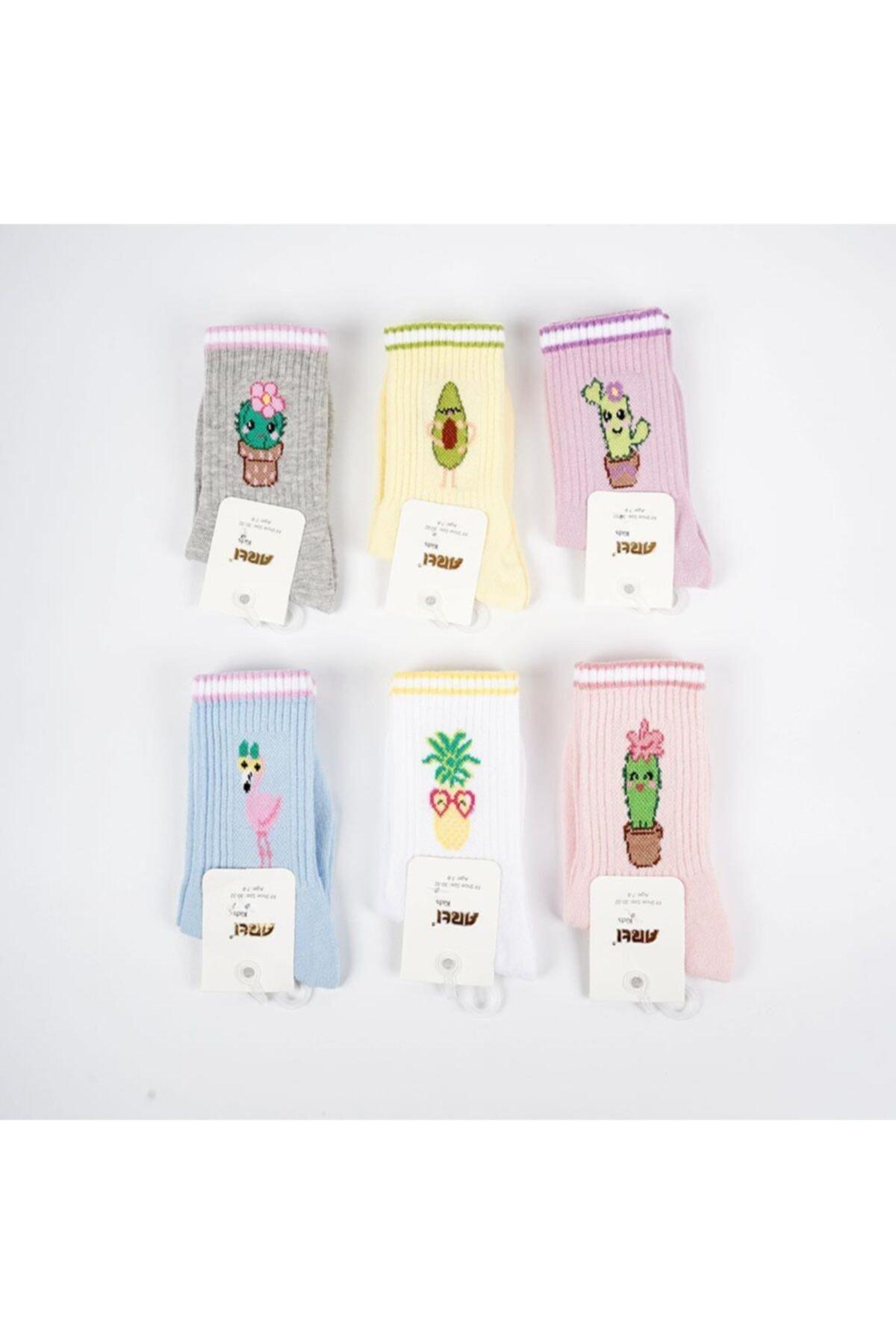 Kida 3'lü Kız Soket Çorap