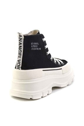 Bambi Siyah Beyaz Kadın Sneaker K01530120018 3