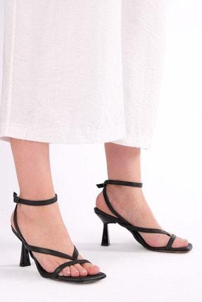 Marjin Kadın Parmak Arası Topuklu Sandalet Bitesiyah 2