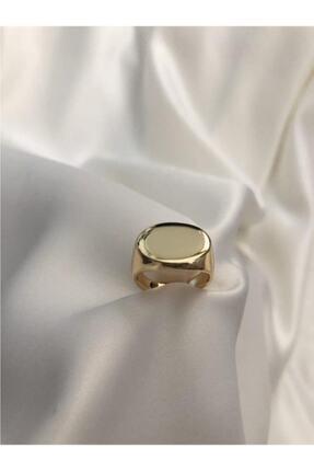The Y Jewelry Kadın Gold Oval Şövalye Yüzük 1