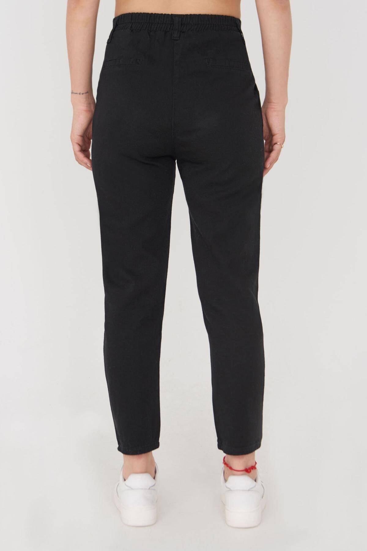 Addax Kadın Siyah Cep Detaylı Pantolon Pn4396 - G4 Adx-0000023917 2