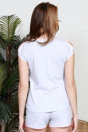 Pattaya Kadın Kısa Kollu Tişört Şort Pijama Takımı Y20s137-9111160000 3