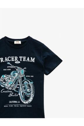 Koton Yazili T-Shirt Kisa Kollu Pamuklu Bisiklet Yaka 2