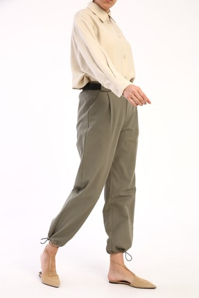 Picture of Açık Yeşil Pileli Kargo Pantolon