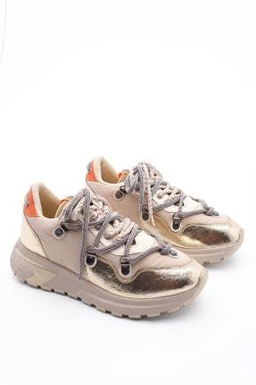 Marjin Kadın Altın Dolgu Topuk Spor Ayakkabı Sneaker 4