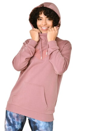 bilcee Kadın Pembe Kapüşonlu Sweatshirt Iw-9041 1