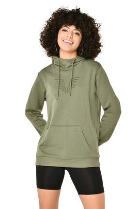 bilcee Kadın Yeşil Kapüşonlu Sweatshirt 1
