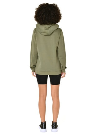 bilcee Kadın Yeşil Kapüşonlu Sweatshirt 3