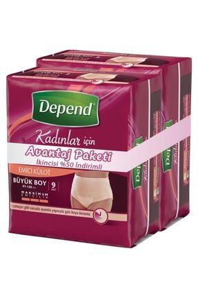 Depend Emici Külot Kadın Büyük 9+9 Avantaj Paket 0
