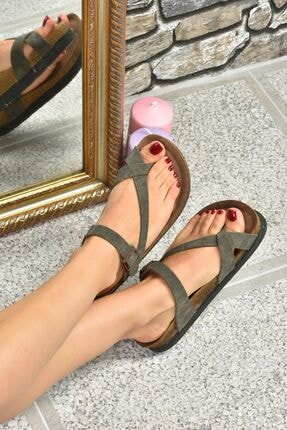 Fox Shoes Yeşil Süet Terlik B777753002 1