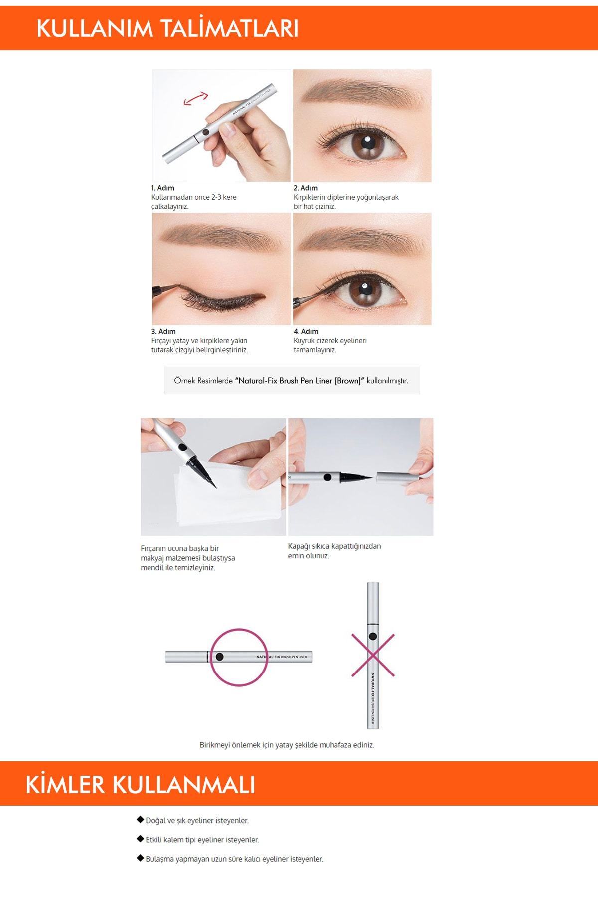 Missha Kalıcı & Kadife Uçlu Eyeliner Vivid Fix Marker Pen Liner (Deep Black) 2