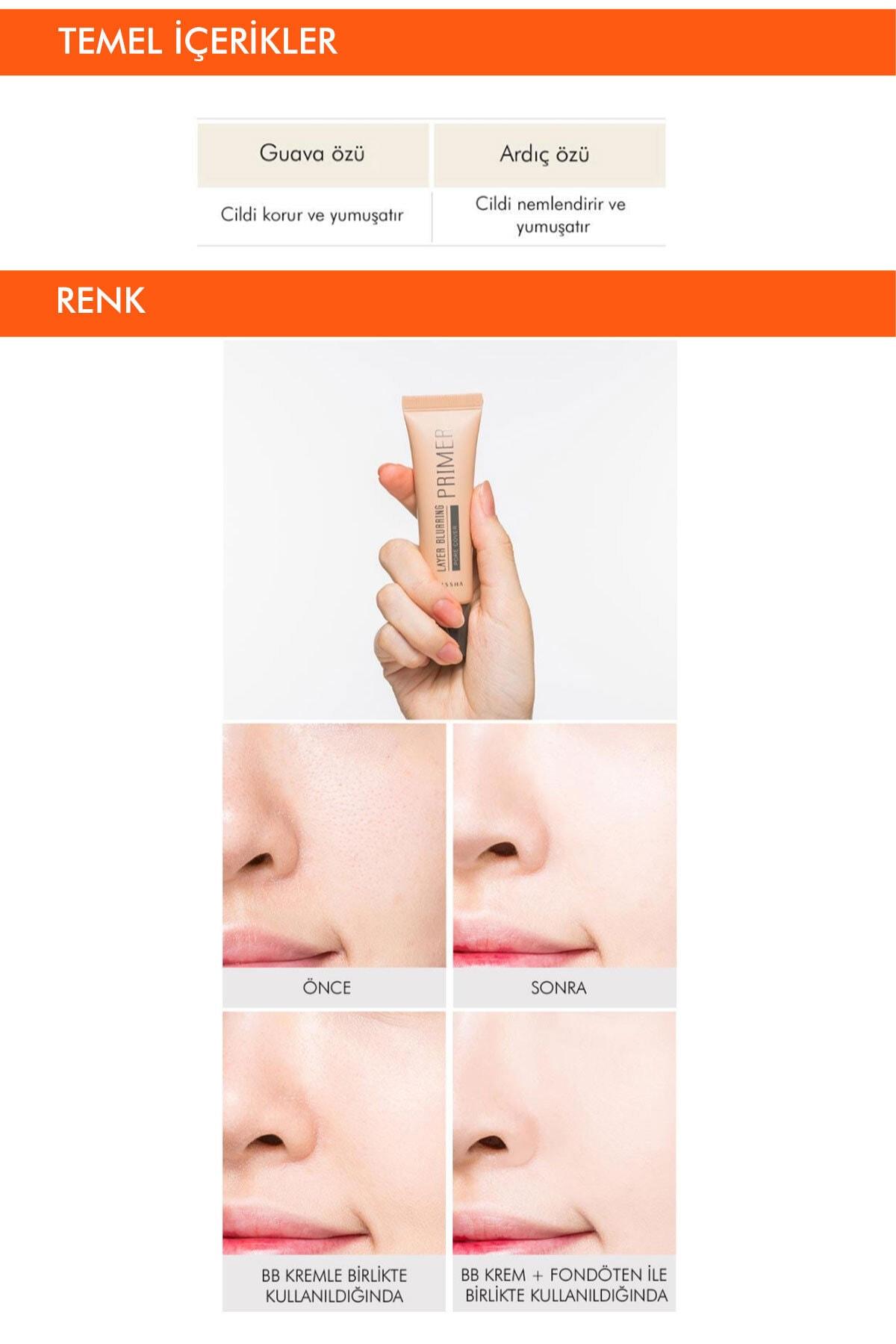 Missha Gözenek Kapatıcı Pürüzsüzleştirici Makyaj Bazı 20ml Layer Blurring Primer (Pore Cover) 2