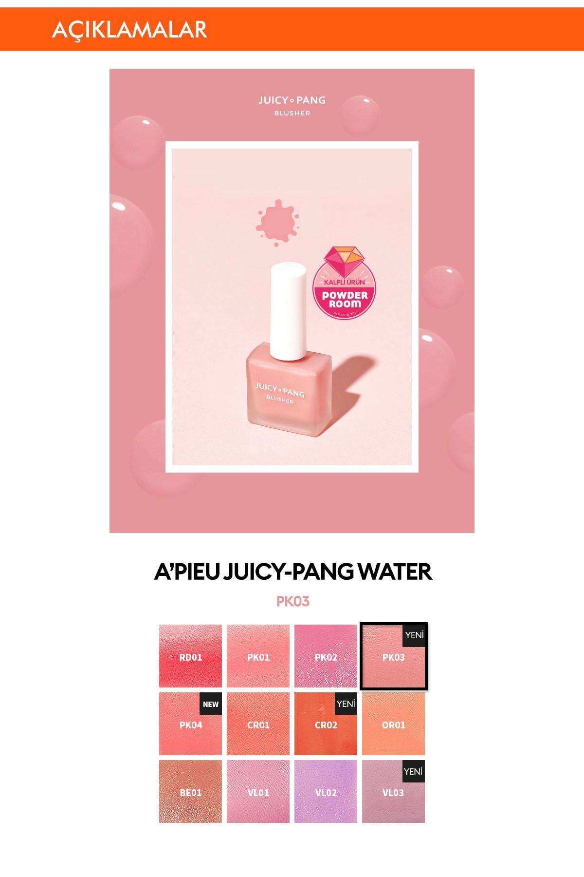 Missha Doğal Görünüm Sunan Nemlendirici Likit Allık 9g. APIEU Juicy-Pang Water Blusher (PK03) 1