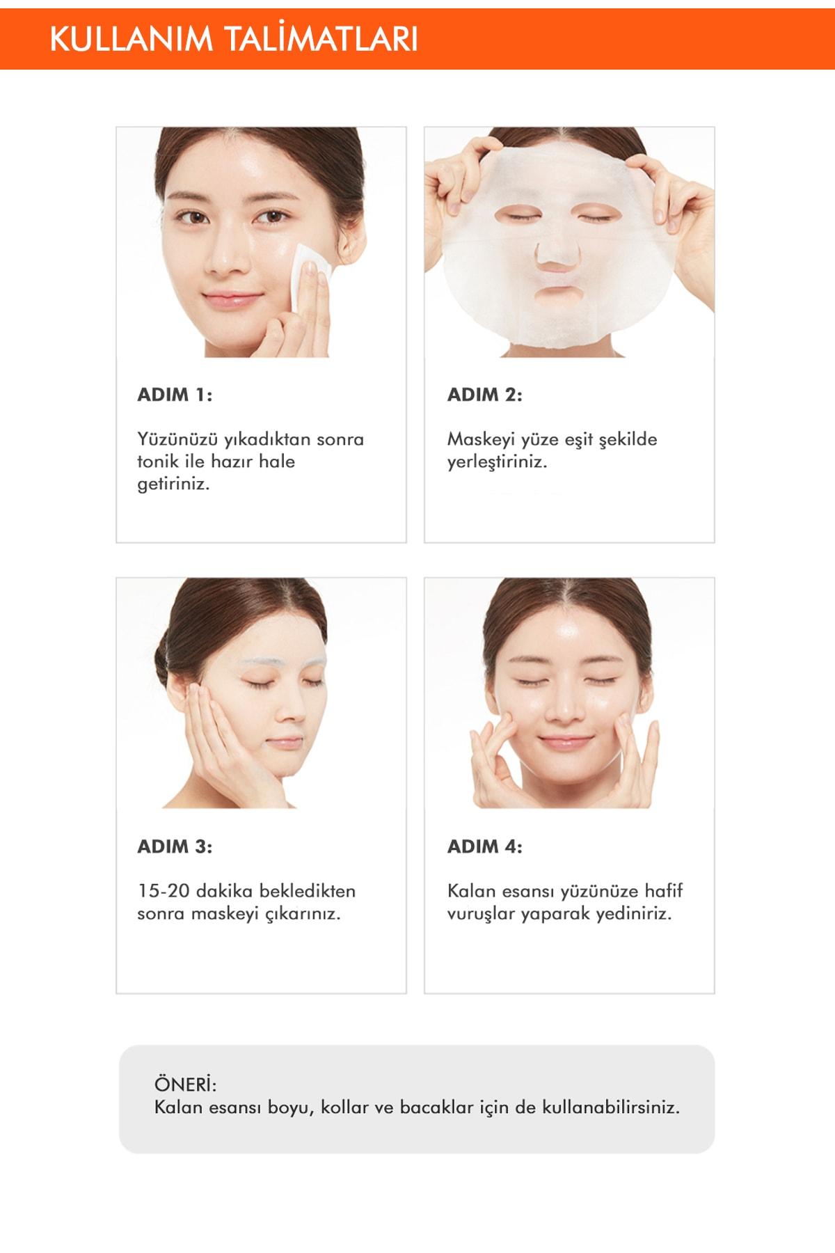Missha Bal İçerikli Yoğun Nemlendirici Yaprak Maske (1ad) Airy Fit Sheet Mask Honey 3