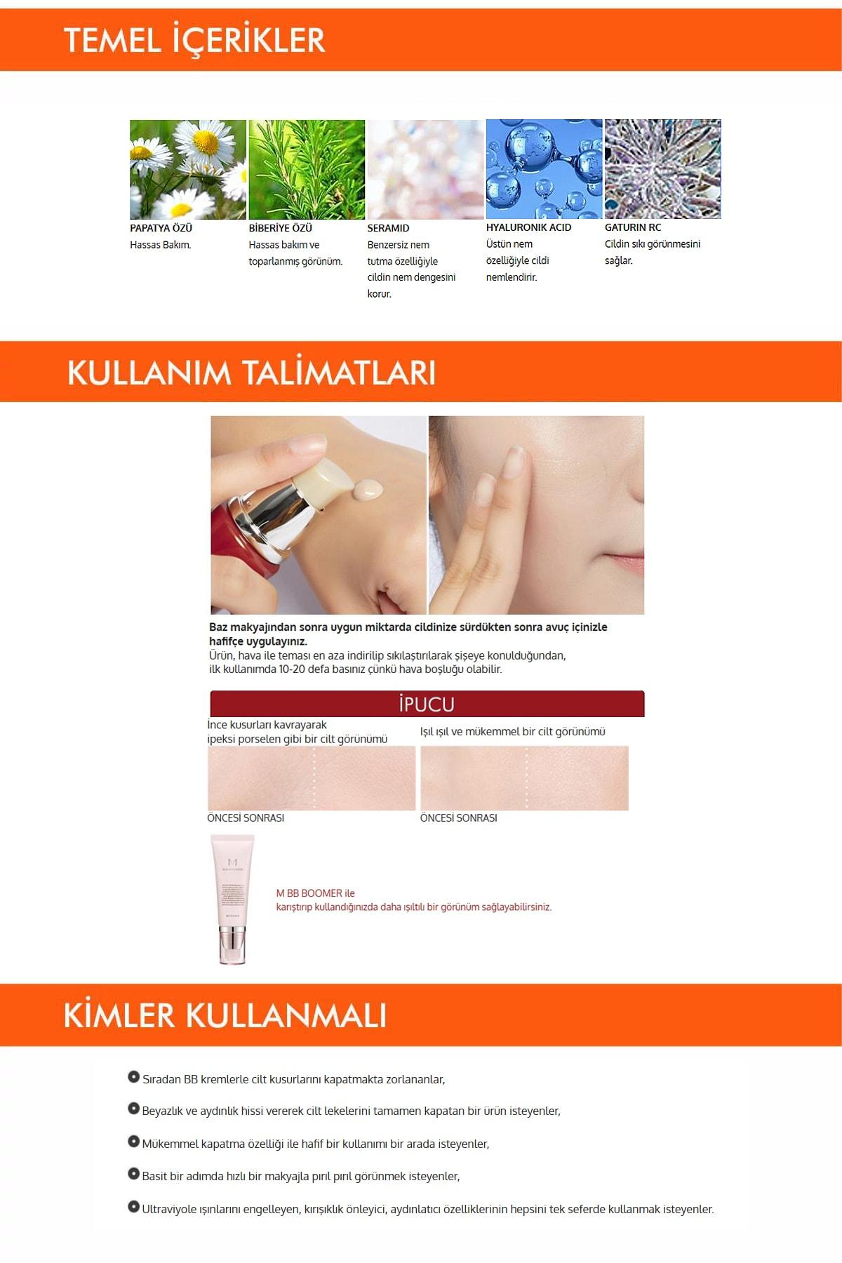 Missha Yoğun Kapatıcılık Sunan BB Krem M Perfect Cover BB Cream SPF42/PA+++ No: 25 ( 20 ML ) 3