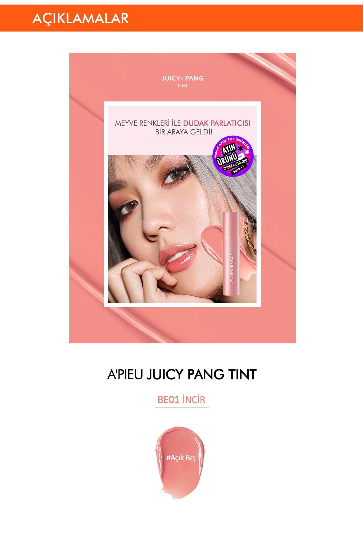 Missha Uzun Süre Kalıcı Parlak Tint APIEU Juicy Pang Tint (BE01) 2