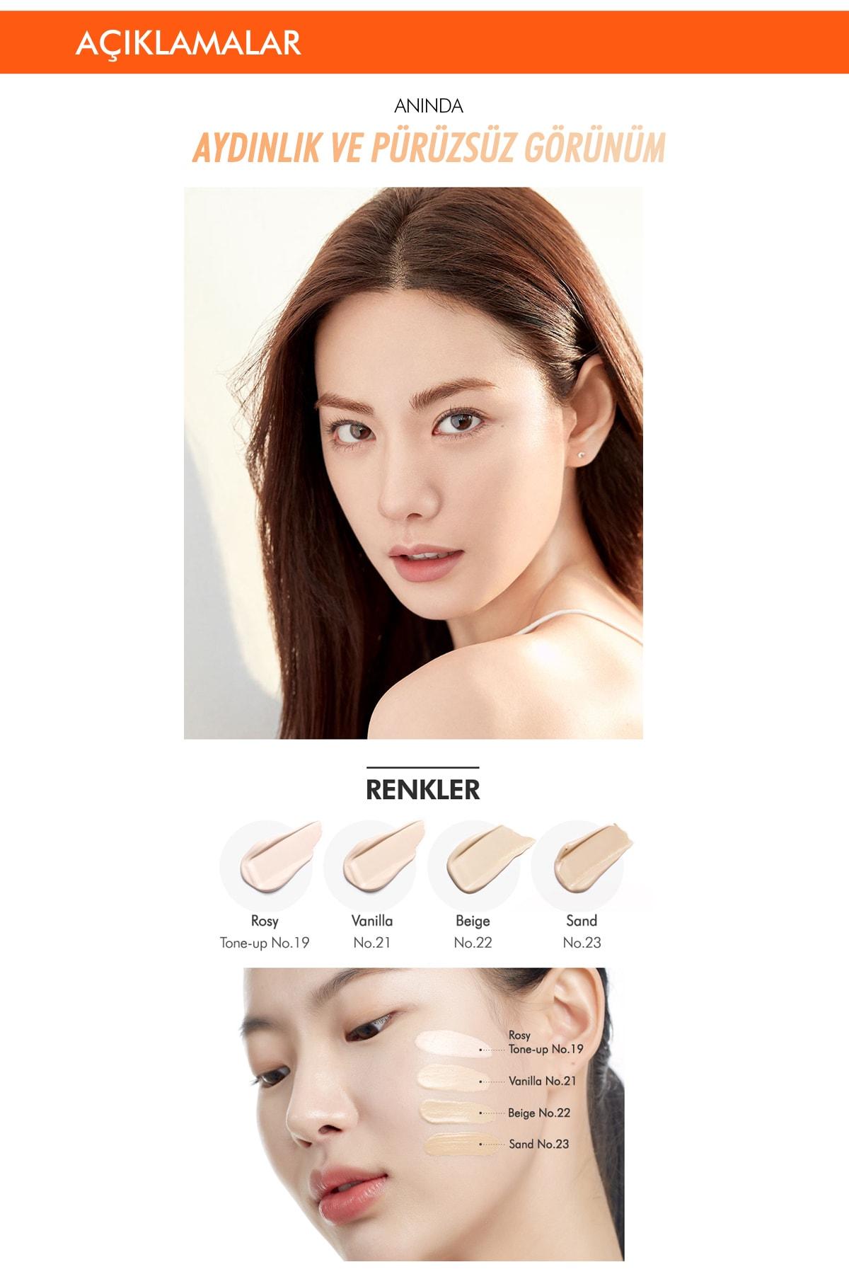 Missha Ton Eşitleyen Aydınlatıcı BB Krem Seti 40ml+1pcs M Perfect Blanc BB Special Gift Set (Vanilla/No.23) 2
