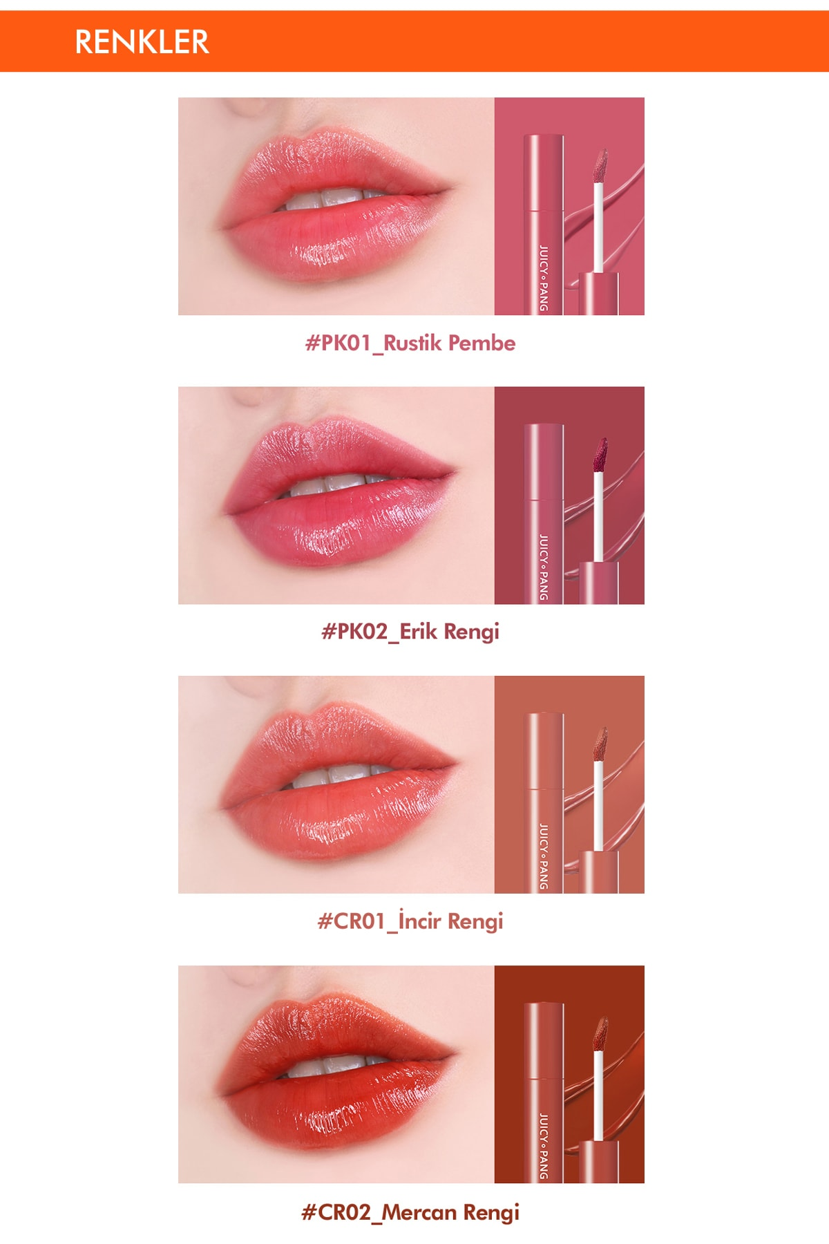 Missha Uzun Süre Kalıcı Parlak Su Bazlı Jel Tint APIEU Juicy-Pang Sugar Tint (CR01) 4