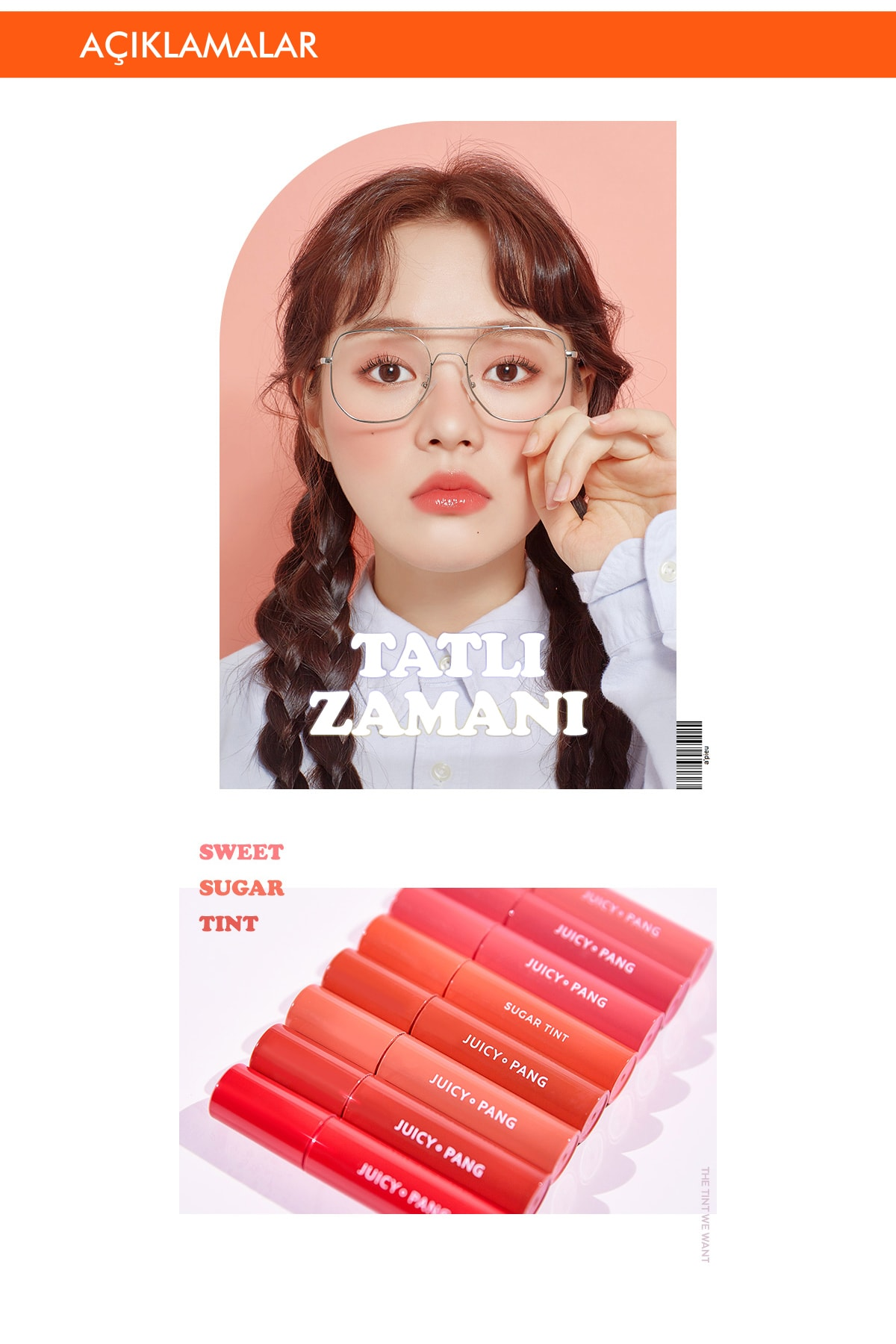 Missha Uzun Süre Kalıcı Parlak Su Bazlı Jel Tint APIEU Juicy-Pang Sugar Tint (PK01) 1