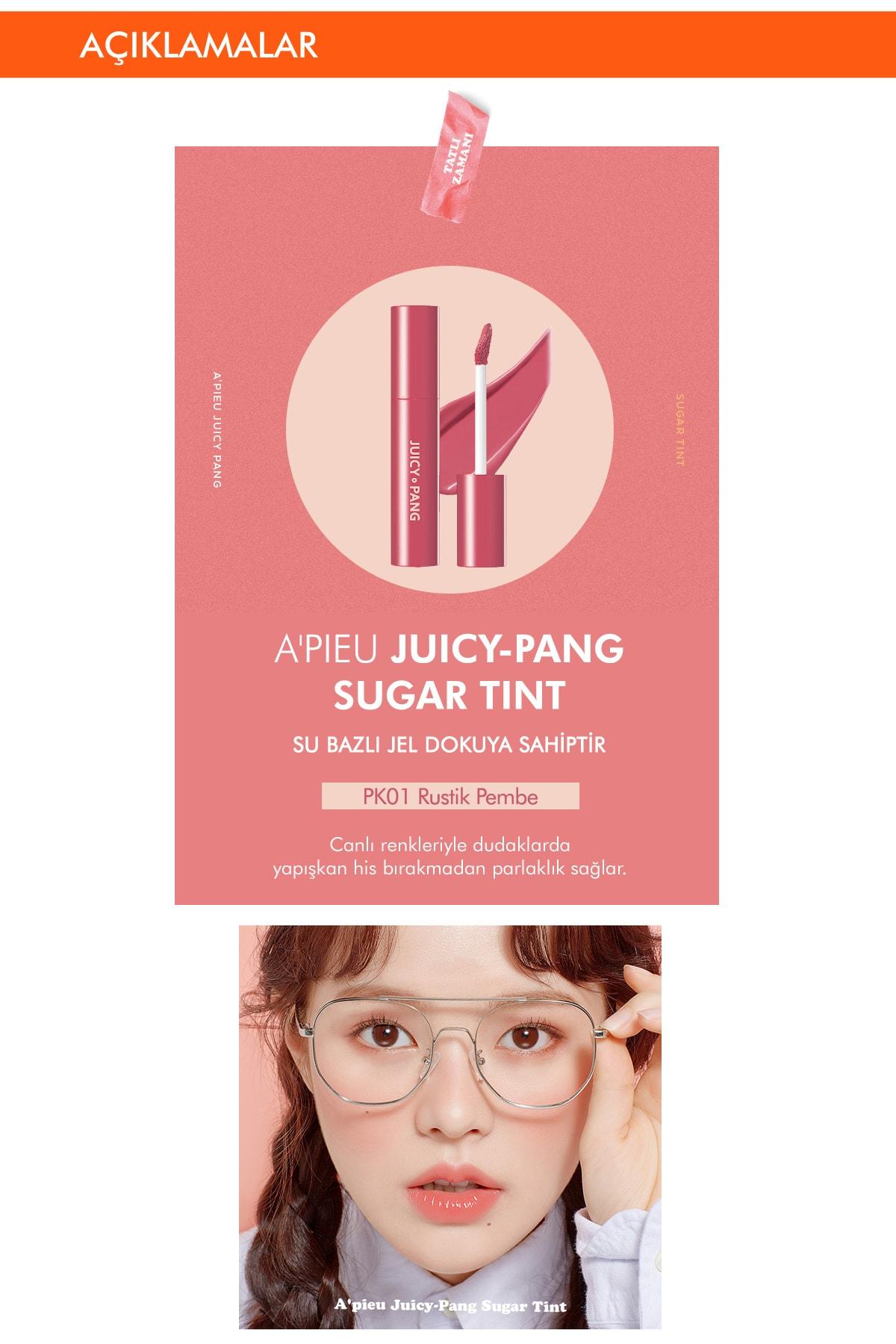Missha Uzun Süre Kalıcı Parlak Su Bazlı Jel Tint APIEU Juicy-Pang Sugar Tint (PK01) 2
