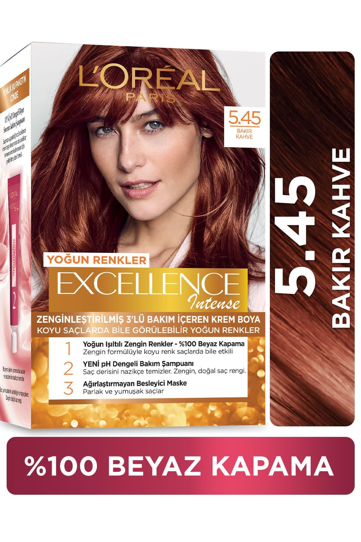L'oréal Paris Excellence Intense Saç Boyası  5.45 Bakır Kahve