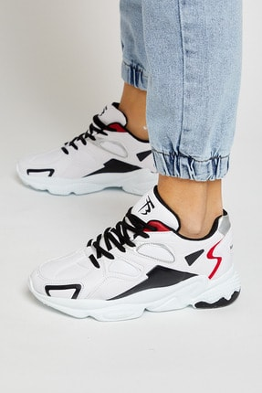 Tonny Black Beyaz Siyah Unisex Sneaker TB252-0 2