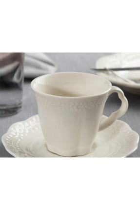English Home Viyana Porselen 2'li Kahve Fincan Takımı 80 Ml Açık Krem 2