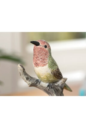 English Home Humming Birds Polyresin Biblo 9*7*19.5cm Yeşil 1