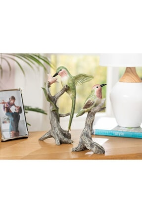 English Home Humming Birds Polyresin Biblo 9*7*19.5cm Yeşil 2