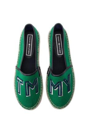 Tommy Hilfiger Colorful Yeşil Kadın Espadril 0