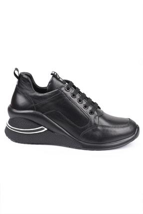 LAGERTHA SHOES Lagertha Dolgulu Topuk Deri Kadın Sneaker Ayakkabı 3