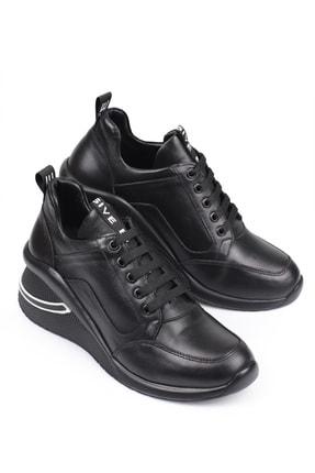 LAGERTHA SHOES Lagertha Dolgulu Topuk Deri Kadın Sneaker Ayakkabı 4