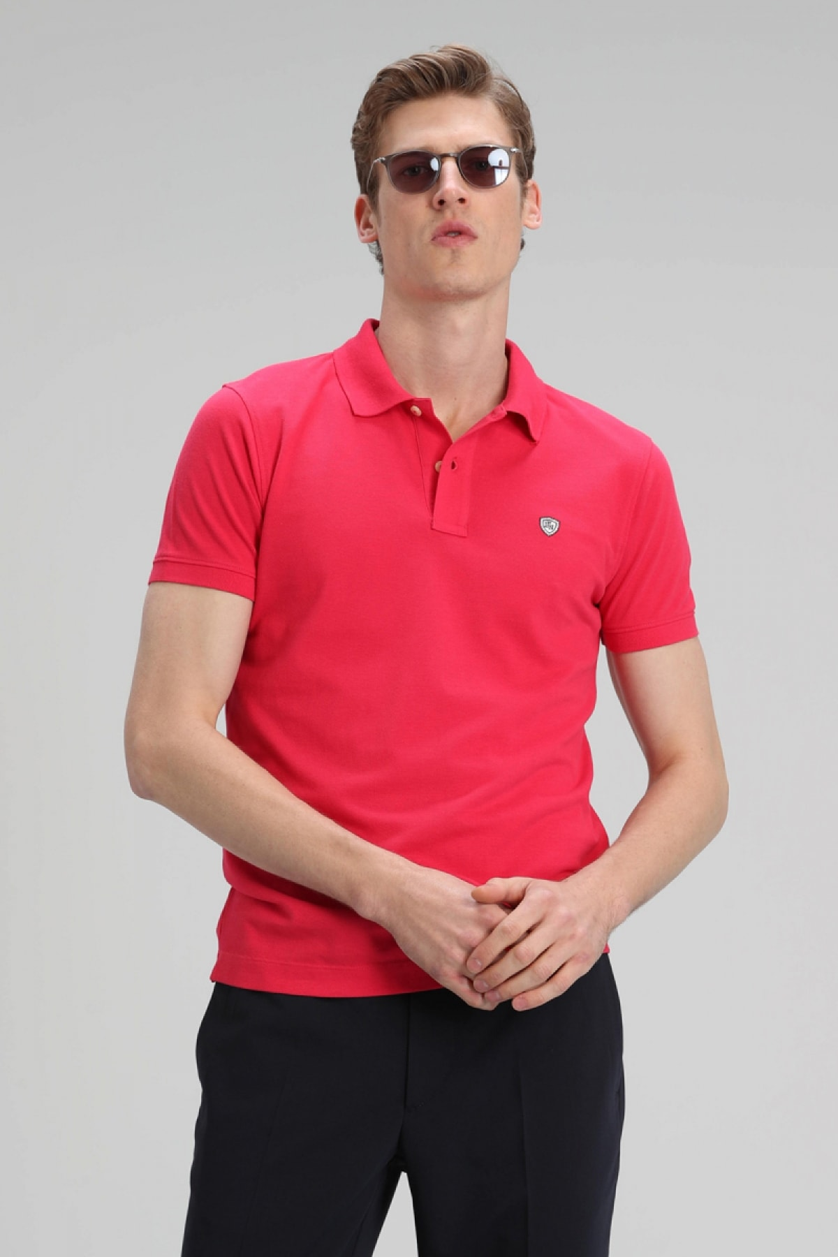 Lufian Laon Spor Polo T- Shirt Fuşya 0