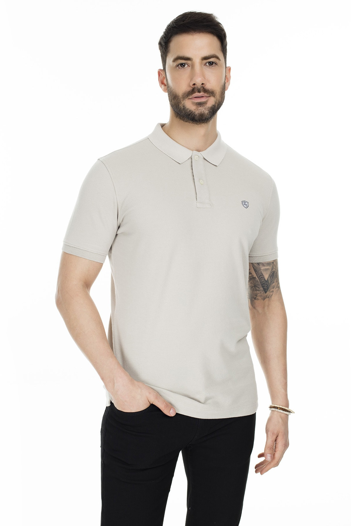 Lufian Laon Spor Polo T- Shirt Taş 0