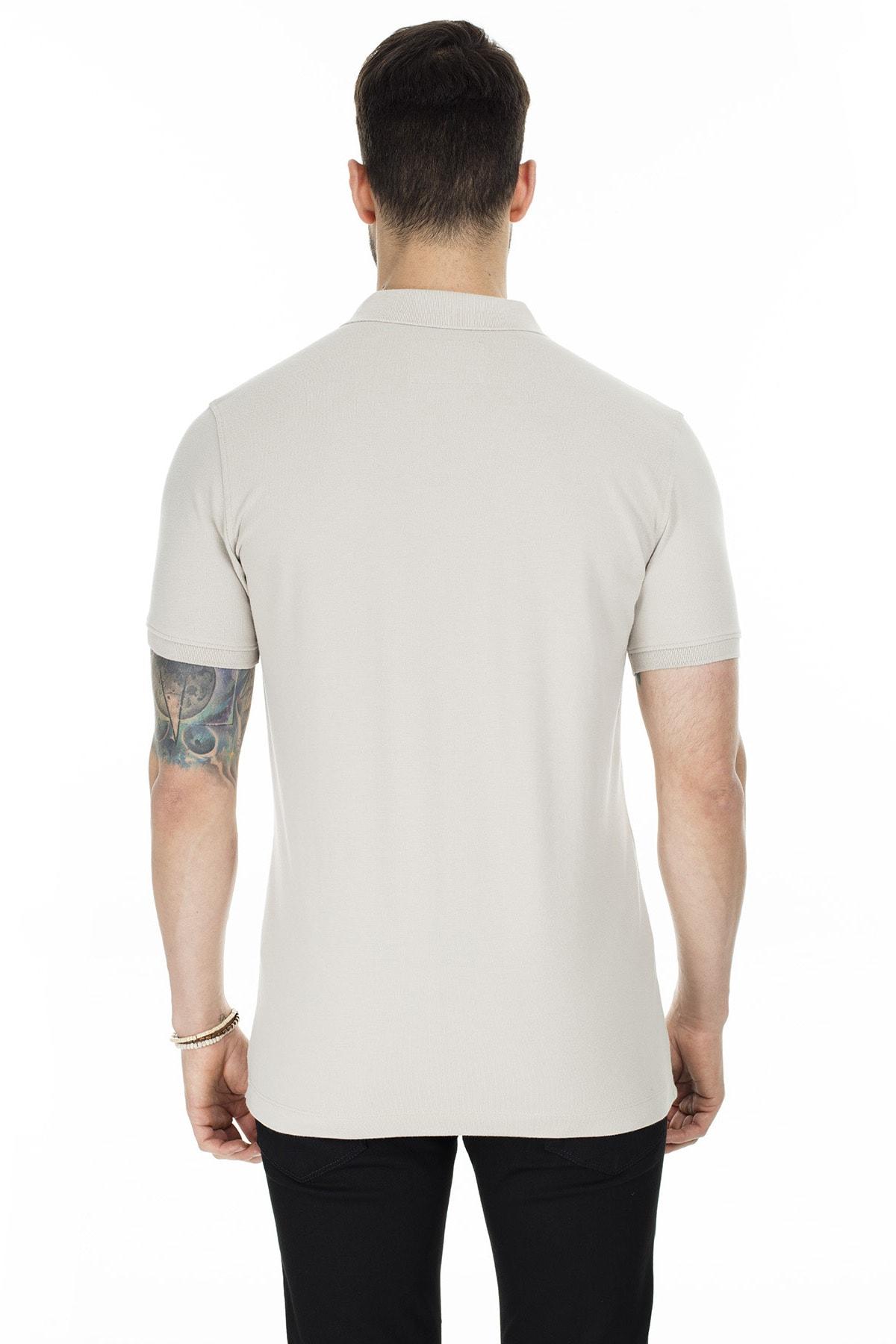 Lufian Laon Spor Polo T- Shirt Taş 1