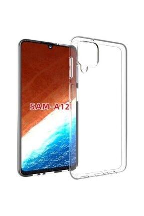 Samsung Galaxy A12 Kılıf Şeffaf Süper Silikon 0
