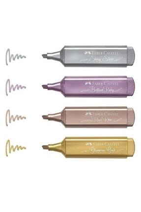 Faber Castell Fosforlu Kalem Metalik Renk 4 Lü 15 46 40 F154640 0