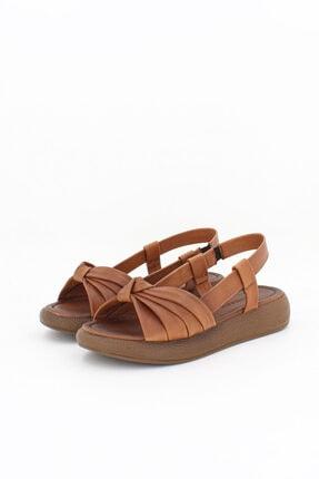 Deripabuc Hakiki Deri Taba Taba Kadın Deri Sandalet Dp-1841 3