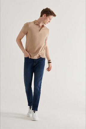 Avva Erkek Lacivert Slim Fit Jean Pantolon A11y3559 4