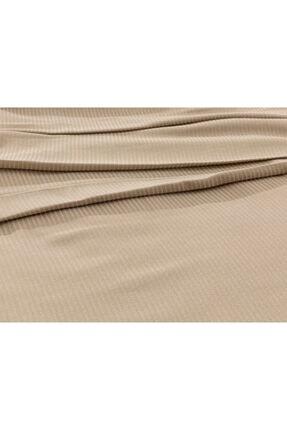 English Home Cool Stripe Soft Touch Çift Kişilik Pike Seti 200x220 Cm Bej 2