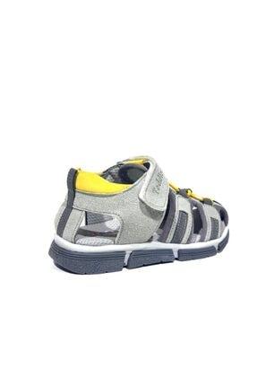 Toddler 2906-1 Ortopedik Hakiki Deri Erkek Çocuk Gri Sandalet 3