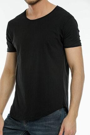 la & vetta Siyah Basic Erkek Bisiklet Yaka Kısa Kollu T-shirt 1