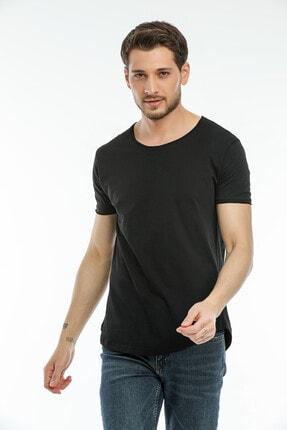 la & vetta Siyah Basic Erkek Bisiklet Yaka Kısa Kollu T-shirt 3