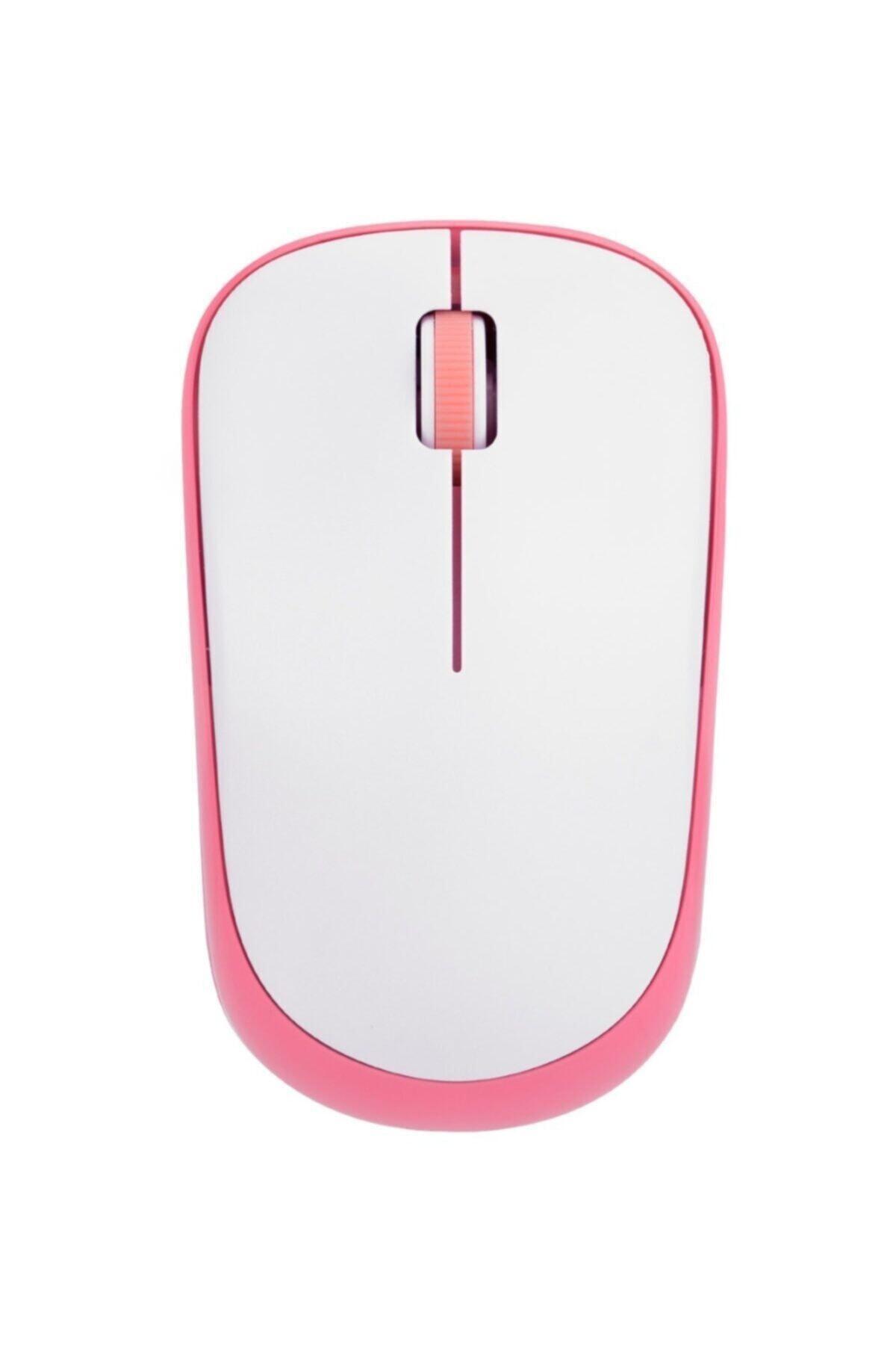 Sm-833 Usb Beyaz/pembe 1200dpi Optik Kablosuz Mouse