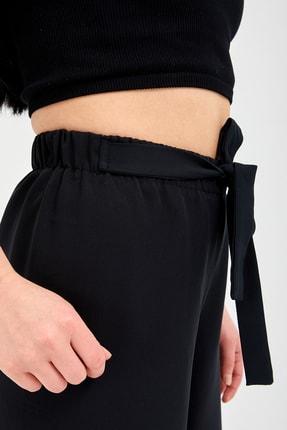 Gentekstil Genplus Kadın Siyah Bel Lastikli Rahat Kesim Pantolon 3