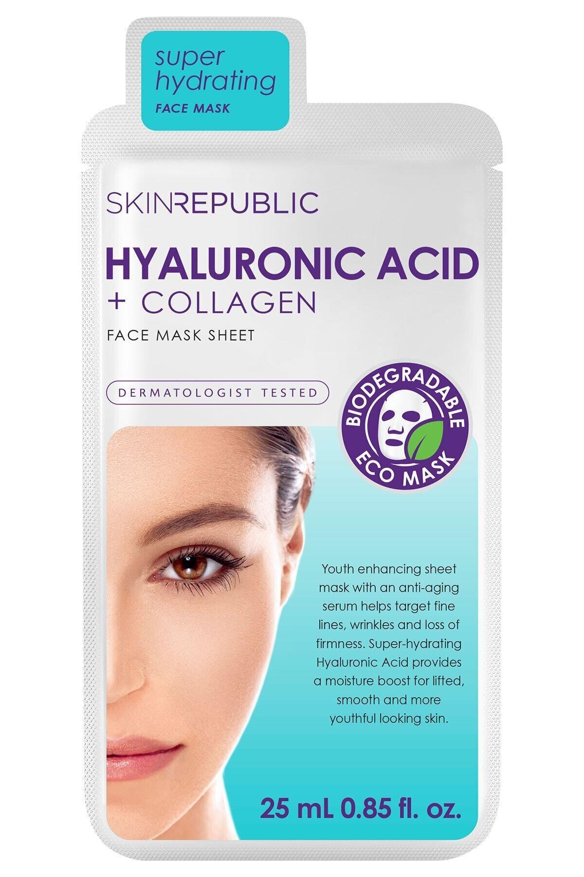 Hyaluronic Acid+collagen Maske 25 Ml
