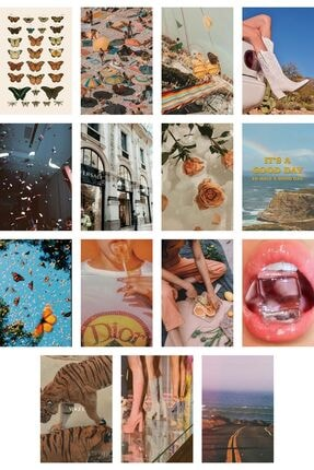 Postifull Retro Poster Kolaj Seti - 60 Adet - Vintage Poster Seti - 10cm*14cm - Kuşe Kağıt - Kutulu Set 3